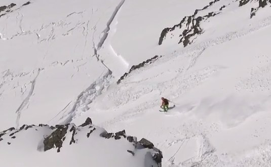 Freeskier survived avalanche accident with ABS Airbag  YouTube