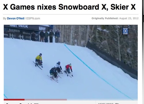 Snowboarder X and Skier X dropped from X Games  ESPN